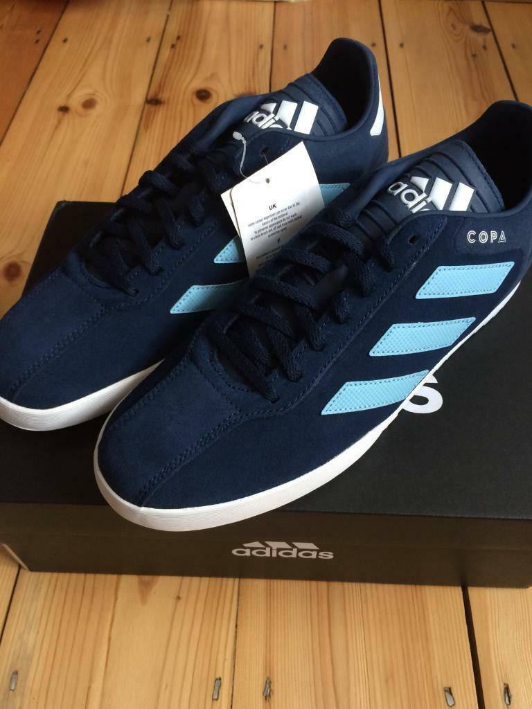 27a551c6c Adidas Copa Super Suede Trainers Navy Clear Blue New Size 8
