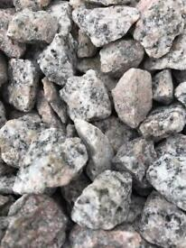 20mm Silver granite driveway/garden chips
