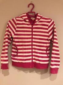 Girls stripe hoodie John Lewis Age 9