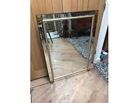 Beautiful All Glass Large Mirror
