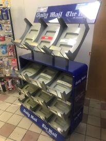 newspaper metal display stand