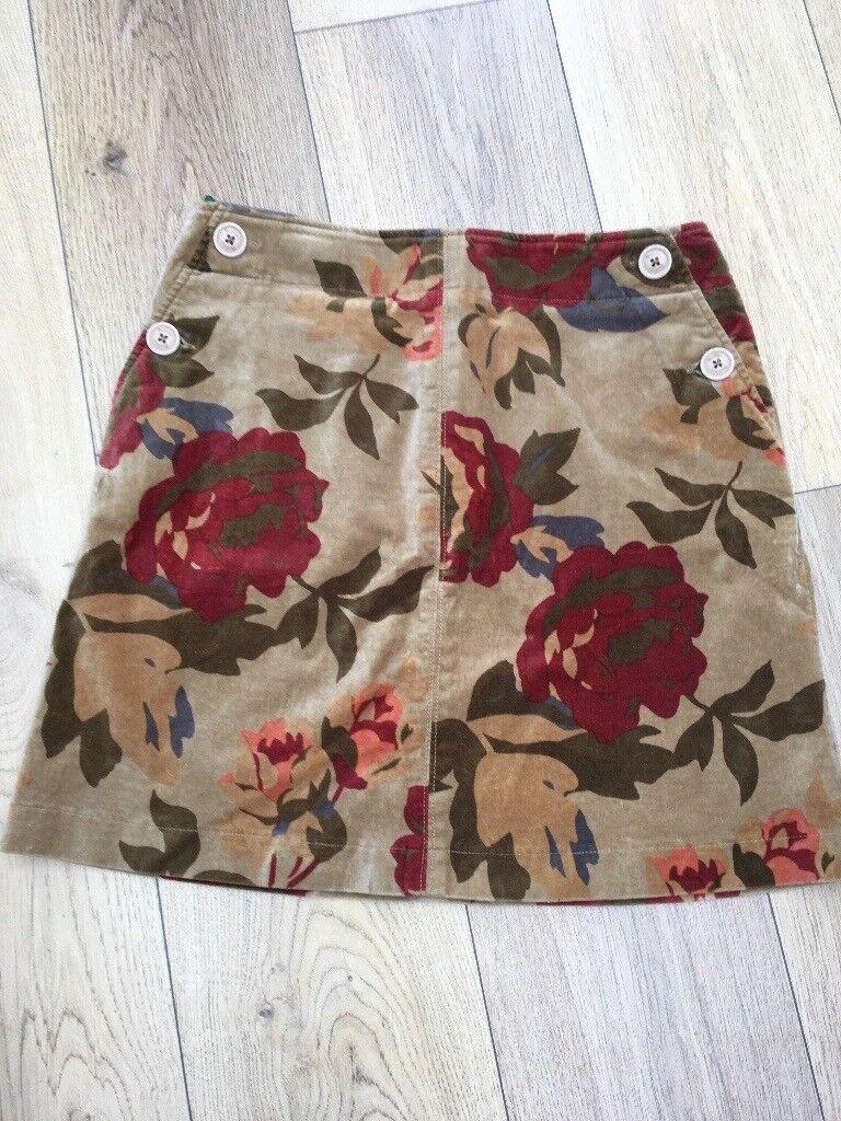 Boden Velvet Antique Rose Print Skirt Size 12R