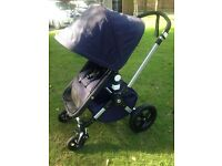 Fab Bugaboo Cameleon3 - Classic - Limited Edition - Navy and Cream - *Professionally cleaned*