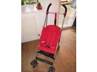 Maclaren Triumph RED Pushchair Buggy Stroller
