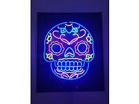 Neon Sign - Skull
