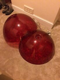 2 Red dome lights LARGE