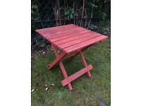 Small patio garden side table