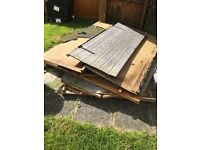 Dismantled shed/wood