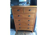 NEXT 6 Drawer Solid Pine Chest Of Drawers