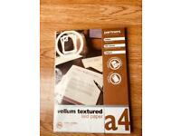 A4 cream textured paper 123 sheets excellent condition £4.00