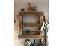 Upcycled Wine Rack for wall - Handmade - In great condition