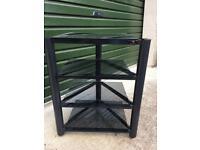 Soundstyle 4 tier black glass Hifi rack.