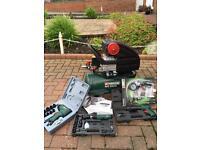 Compressor with attachments