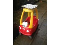 little tykes red car with floor board vgc