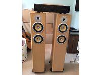 Cambridge Audio A5 Amplifier with TDL Nucleus KV6 Floorstanding Speakers