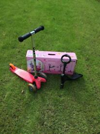 Pink Mini Micro 3in1 scooter