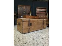 Antique French Domed Trunk Chest Blanket Box