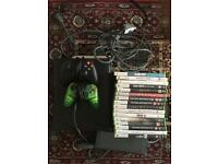 Xbox 360 120gb with controllers and games