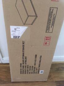 Brand new in box white storage box