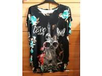 Ladies XL/XXL sequin embellished t shirt