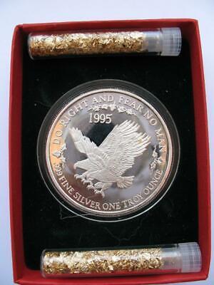 1-OZ.999 SILVER RARE 1995 DOUBLE EAGLE FAMOUS NO CITY 1ST COIN DEL FRISCO'S+GOLD