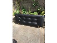 Double Bed faux Leather Headboard