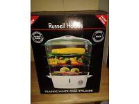 Russel Hobbs Classic White Ovel 3 tier Steamer