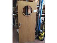 Oak Fire Door with Pot Hole Window Very Cheap £35.00