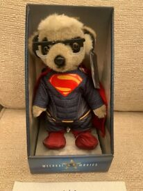 Superman Meerkat Toy Brand New in Box with Certificate , Limited Edition