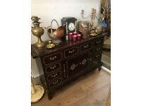 Cabinet or Sideboard with Bone inlay - Beautiful Indian Hardwood
