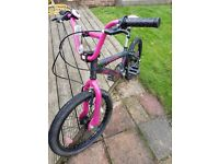 BMX Awesome Grey/Pink Girls Bike