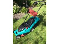BOSCH lawn mower with removable grass box