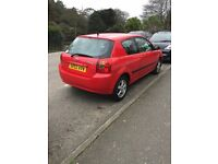 Red Toyota Corolla 1.4 3dr £650 ono