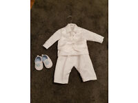 Christening baptism baby boy outfit 3-6 months