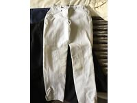 Horse riding white competition breeches 28r