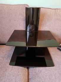 Black Glass TV Shelves