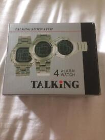4 Alarm Talking Watch
