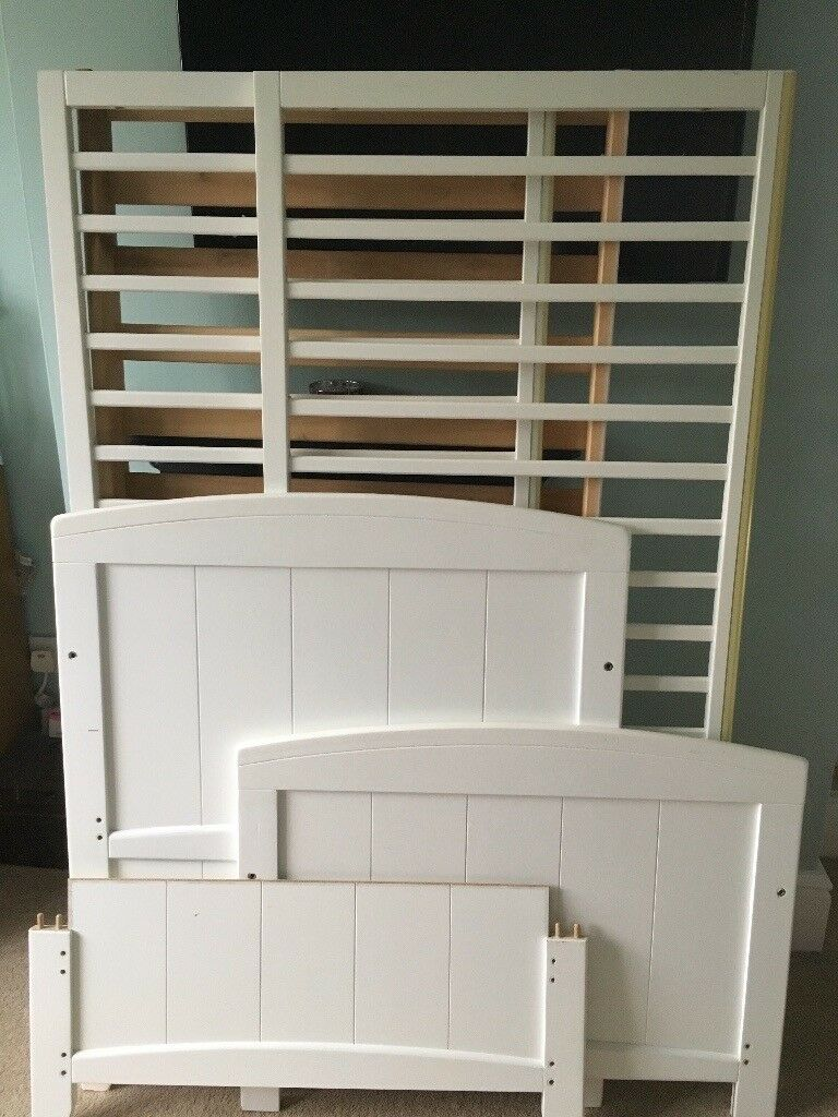 White Cot Bed in good used condition