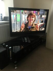 36 inch Panasonic tv stand and surround sound