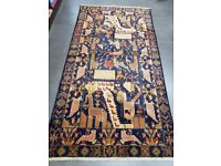 Authentic Afghan Rug - Hand Made with 100% Wool - 238 x 125cm