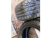 """Pirelli winter tyres 17""""run flats very little wear. Be ready for snow. A bargain at £95 for 2"""