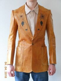 Classic 1970 Small Faces leather jacket by Collin Bennett