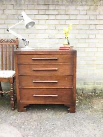ENGLISH 1930S-1940S CHEST OF DRAWERS FREE DELIVERY 🇬🇧vintage