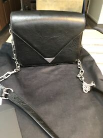 Alexander Wang Black Leather Crossbody Bag - New . Height 6.5 inch Length 8.5 inch Width 3 inch