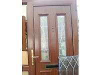 UPVC double glazed entrance door