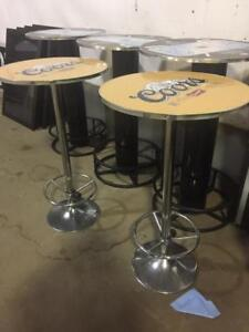 Bar Tables - Molson & Coors Round Bar Table Set