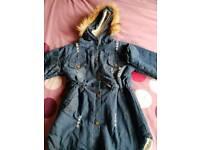 Girls denim fleece jacket