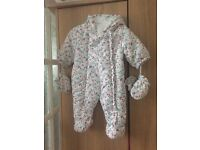 Brand new 0-3 months snow suit water resi