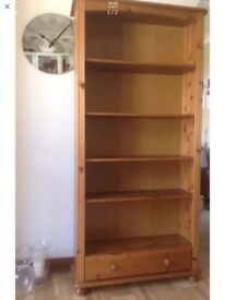 Pine Bookcase - full height