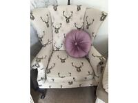 Stag wing back chair